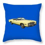 Yellow 1975 Cadillac Eldorado Convertible Throw Pillow