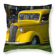 Yellow 30's Chevy Pickup Throw Pillow