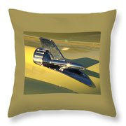 Yellow 57 Chevy Hood Throw Pillow