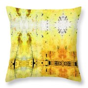 Yellow Abstract Art - Good Vibrations - By Sharon Cummings Throw Pillow