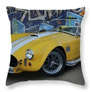 Yellow Ac Cobra  Throw Pillow