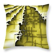 Yellow And Black 3 Throw Pillow