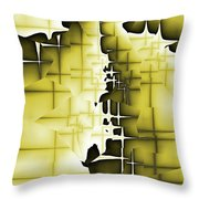 Yellow And Black 4 Throw Pillow
