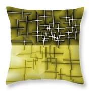 Yellow And Black 5 Throw Pillow