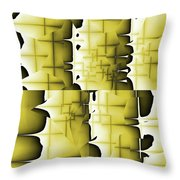 Yellow And Black 6 Throw Pillow