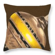 Yellow And Black Top Throw Pillow