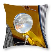 Yellow And Blue Hot Rod Headlight Throw Pillow