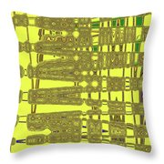 Yellow And Brown Lines Throw Pillow