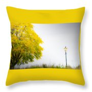 Yellow And Golden Throw Pillow