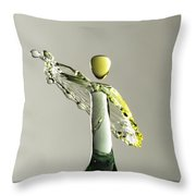 Yellow And Green 1 Throw Pillow