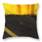 Yellow And Grey Wc  Throw Pillow