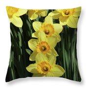 Yellow And Orange Daffodil  #2 Throw Pillow