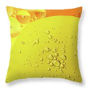 Yellow And Orange Oil Droplet On Water Throw Pillow