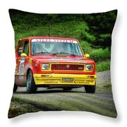 Yellow And Red Fiat 127 Throw Pillow