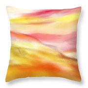 Yellow And Red Landscape Throw Pillow