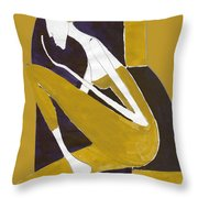 Yellow And Violet Throw Pillow