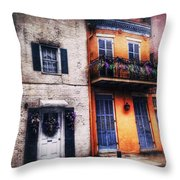 Yellow And White Side By Side Throw Pillow