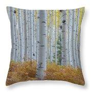 Yellow Aspen Grove Throw Pillow