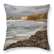 Yellow Bank Cliffs Throw Pillow