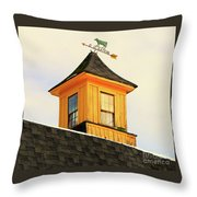 Yellow Barn Cupola Throw Pillow