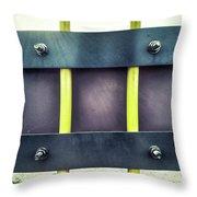 Yellow Bars Close Up  Throw Pillow
