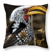Yellow Beak Throw Pillow