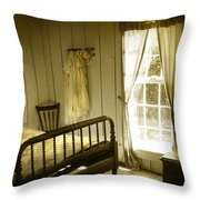 Yellow Bedroom Light Throw Pillow