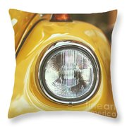 Yellow Beetle Throw Pillow