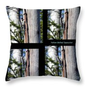 Yellow-bellied Collage With Text Throw Pillow