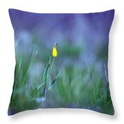 Yellow Bells Throw Pillow