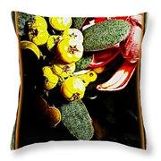 Yellow Berries Throw Pillow