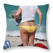 Yellow Bikini Bottom Throw Pillow