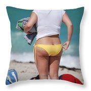 Yellow Bikini Bottom Throw Pillow
