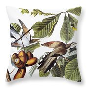 Yellow-billed Cuckoo Throw Pillow