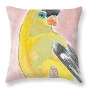 Yellow Bird 56 Throw Pillow