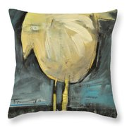 Yellow Bird In Field Throw Pillow