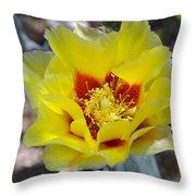 Yellow Blossom Throw Pillow