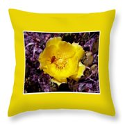 Yellow Blossom  Throw Pillow