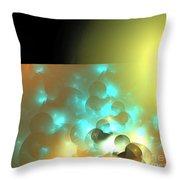 Yellow Blue Horizon Throw Pillow