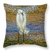 Yellow Boots Throw Pillow