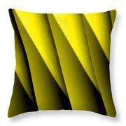 Yellow Borders Throw Pillow