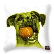 Yellow Boxer Mix Dog Art - 8173 - Wb Throw Pillow