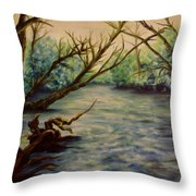 Yellow Breeches Creek Pennsylvania Throw Pillow
