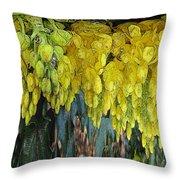 Yellow Buds Throw Pillow