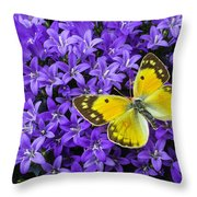 Yellow Butterfly On Mee Throw Pillow
