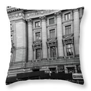 Yellow Cab By The Museum Of Natural History, New York Throw Pillow