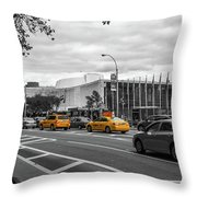 Yellow Cabs By The United Nations, New York 2 Throw Pillow