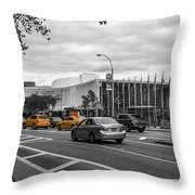 Yellow Cabs By The United Nations, New York 3 Throw Pillow