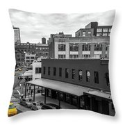 Yellow Cabs In Chelsea, New York 5 Throw Pillow