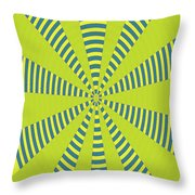 Yellow Cactus Spines Abstract Throw Pillow